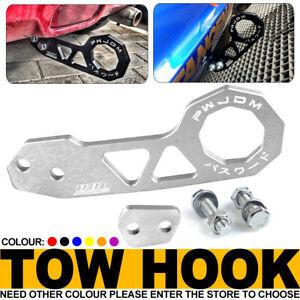 JDM Silver Anodized Aluminum Racing Rear Tow Hook For Honda Civic CRX Del Sol