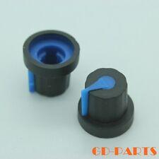 16x14mm Black+Blue Rubber Rotary Knob for Mixer DJ Guitar Effect Pedal 5mm shaft