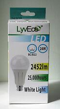 24 Watt BC GLS LED Bulb Lamp similar to 150 watt light bulb white light output