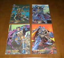 4 1995 FLEER ULTRA SKELETON WARRIORS JUMBO PRINTS - ARACULA - DR. CYBORN -