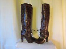 bottes cavalières bocage cuir marron plus ou moins vieilli pointure 37