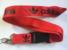Red Black Adidas Originals Lanyard NEW UK Seller Keyring ID Holder Strap