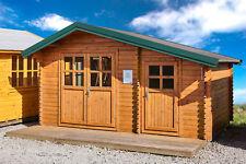 35mm Gartenhaus 450x300 cm 4,5x3 m Gerätehaus Holzhaus Blockhaus inkl. Fußboden