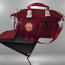 MIMCO LUCID BABY BAG NAPPY OVERNIGHTER WEEKENDER DUFFLE in MARS RED *NOW RARE*