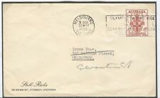 Australia Olympische Spiele Olympic Games 1956 machine cancel Melbourne Opening