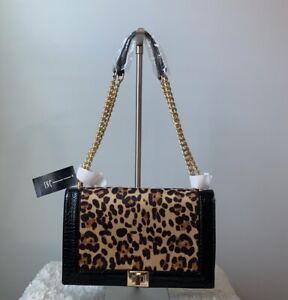 INC International Concepts Ajae Leopard Flap Crossbody Bag