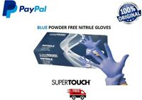 Nitrile Disposable Gloves 100-1000 Powder Free Latex Free Blue SuperTouch