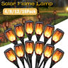 96 LED Flickering Dancing Flame Lights Solar Torch Garden Landscape Lamp Outdoor