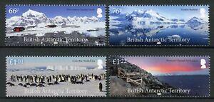 BAT Brit Antarctic Territory Birds on Stamps 2018 MNH Landscapes Penguins 4v Set