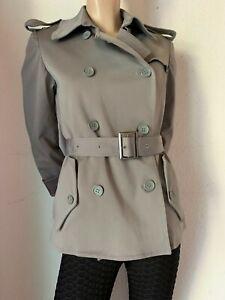 Trenchcoat Jacke Calvin Klein Military Stil khaki Baumwolle Mix Stretch 38 40