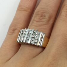 Hand Ring in 14k Gold G-H Vs2-Si1 1.00ct Baguette Cut Diamond Channel Set Right