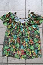 JANINA TUNIKA Top Palm Springs 52, T-Shirt Bluse XXL/2XL,Chiffon m CARMEN Flügel