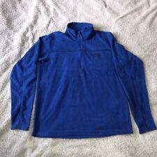 MOUNTAIN HARDWEAR Fleece Jacket Pullover Hard Wear Zip Blue Mens M