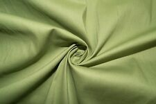 Pear Green Poplin #5 Cotton Lycra Spandex Stretch Woven Apparel Fabric BTY