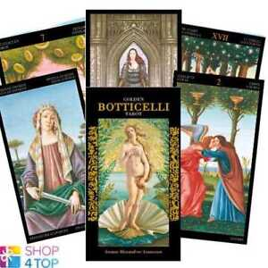 GOLDEN BOTTICELLI TAROT DECK CARDS ESOTERIC FORTUNE TELLING LO SCARABEO NEW