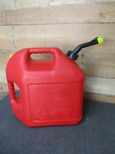 Blitz 5 gal Plastic Gas Fuel Can with Old Style Spout & Yellow Cap