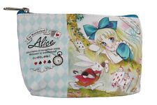 NEW Anime Alice in Wonderland Mad Hatter Tea Party Travel Pouch Makeup Bag