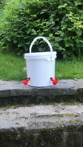 White Poultry Drinker Waterer -10 litres capacity -Sold by a real poultry keeper