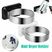 Hair Dryer Rack Storage Organizer Holder Hanger Bathroom Wall Mounted Shelf Gift