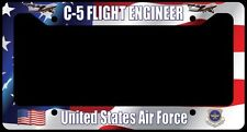 C-5 Galaxy Flight Engineer Flag License Plate Frame