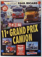 AFFICHE 11 e Grand-Prix camion sur le Circuit Paul Ricard /17PB