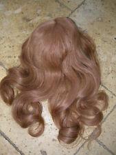 Belle perruque en cheveux naturels longs roux taille 9/10