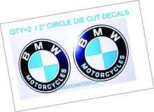 "2 BMW Motorcycle 2"" Decals Great for Helmets R K  LT RT GT R CS CLR 650 s100"