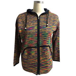 Mens Hippie Hoodie Jacket Rainbow Stripe Casual Hippy Zip Coat Hooded Outwear UK