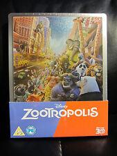 Zootopia (Zootropolis) 3D/2D Blu-Ray Steelbook Disney Animated [UK] Sealed
