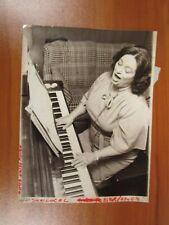 Vintage Glossy Press Photo Natick MA Prima Donna Opera Singer Piano 10/21/80s