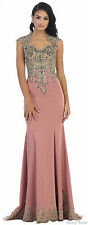 RED CARPET EVENING GOWN SPECIAL OCCASION LONG PROM STRETCHY DRESS GALA PAGEANT