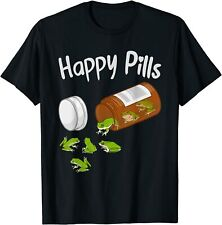 Happy Pills Frog Funny Catcher Frog T-Shirt Size S - 3Xl