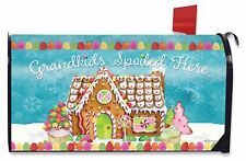 Grandkids Spoiled Here Magnetic Mailbox Cover Christmas Gingerbread Standard