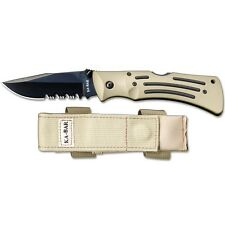 "KA-BAR Knives Desert Mule Knife 3 ⅞"" S. Steel  Blade & Desert Color Zytel Handle"