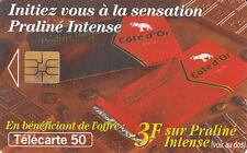 France télécarte 50 Praliné intense