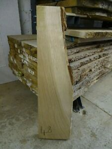Kiln Dried Oak off cut planed, waney edge for diy shelving etc Board No BRLB48KD
