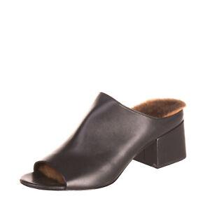 RRP €600 3.1 PHILLIP LIM Leather Mule Sandals EU 36.5 UK 3.5 US 6.5 Rabbit Fur