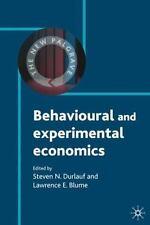 Behavioural And Experimental Economics (new Palgrave Economics Collection)