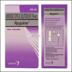 2 Pack-Regaine Topical solution 2% For Women Hair Loss  & Regrowth Solution-60ml