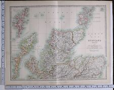 1915 LARGE MAP SCOTLAND NORTH SHEET SHETLAND ISLANDS ORKNEY SUTHERLAND