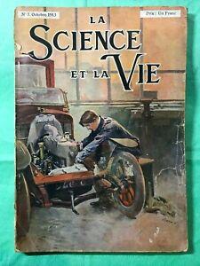 EDITION ORIGINALE REVUE LA SCIENCE ET LA VIE N°7 D'OCTOBRE 1913