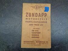 Zundapp  DB 202 Comfort Norma Enduro Parts Catalog Manual    #26   1054
