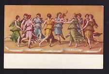 c1906 La Danza d'Apollo con le Muse art religion by Giulio Romano postcard