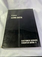 Canon Lens Data Counter Book 2