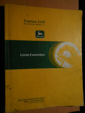 John Deere Tractor 2140 from No. 430000: Booklet' Maintenance H1