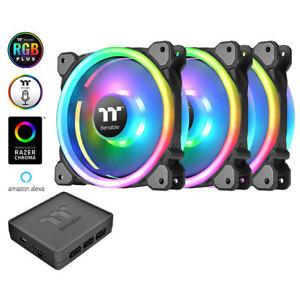 Thermaltake CL-F072-PL12SW-A Riing Trio 12 LED RGB Radiator Fan (3 Fan Pack)