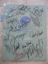 MICHAEL JORDAN INVITATIONAL PROGRAM SIGNED BY 18(!) JORDAN, GRETZKY, DR.J,PSADNA