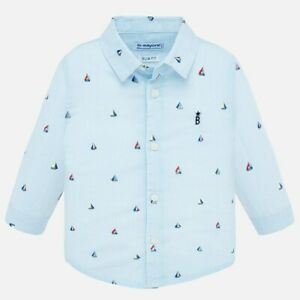 New Mayoral Baby Boy long sleeved patterned shirt, Age 6 months (1166)