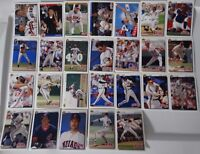 1992 Upper Deck UD Cleveland Indians Team Set of 26 Baseball Cards