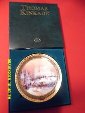 "Collector's Plate, Kinkade ""Victorian Christmas Ii"" Coa & Original Box"